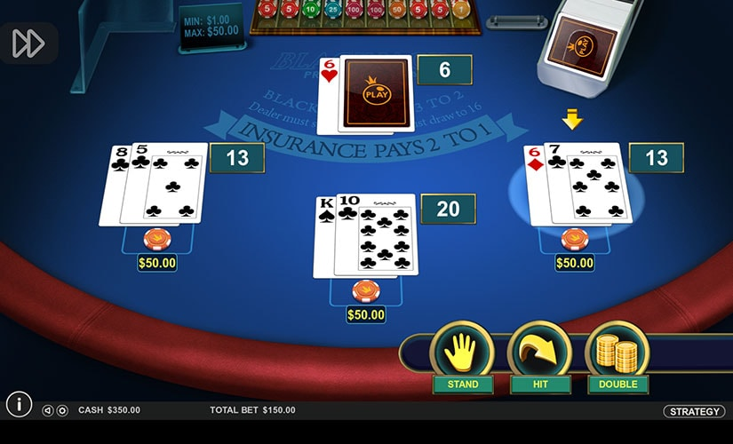 american blackjack screenshot